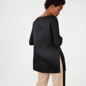 NWT Club Monaco black silk top